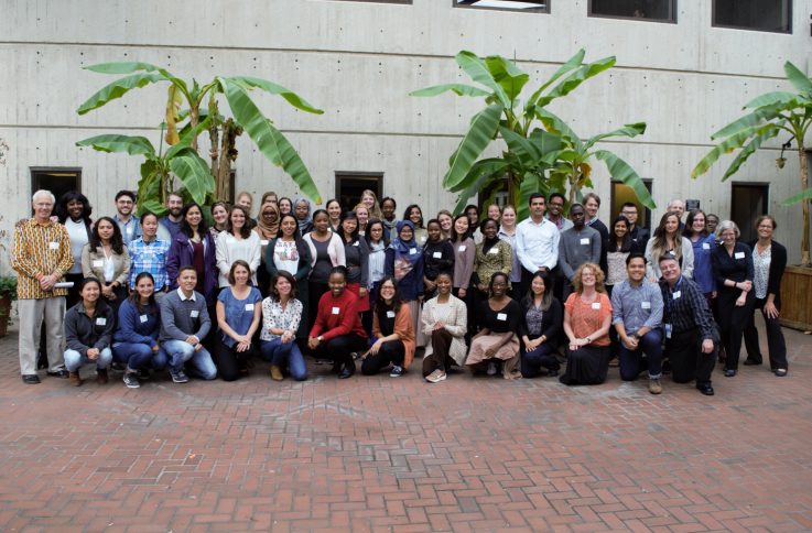 New DGH students with staff and faculty from the department