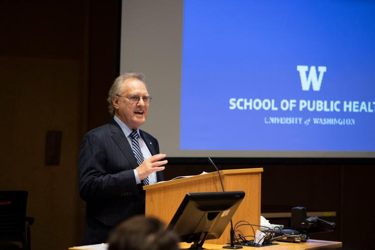 Stpehen Lewis speaks at the 2019 Gloyd Lecture