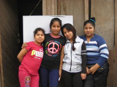 Young women in Peru