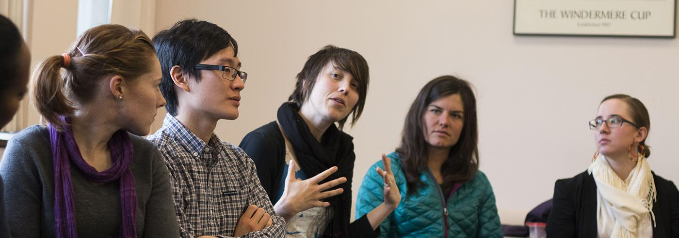 Students in an MPH workshop