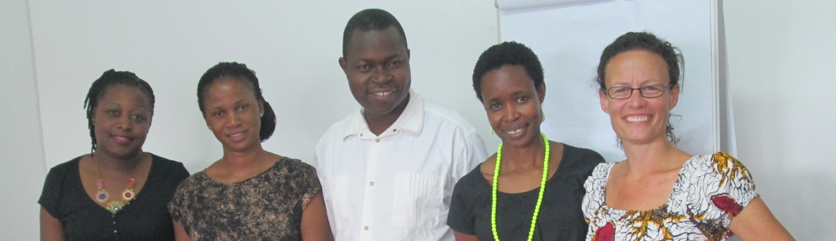 Faculty and students in Mozambique