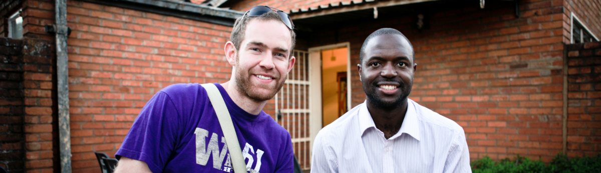 MPH student with counterpart in Zambia.
