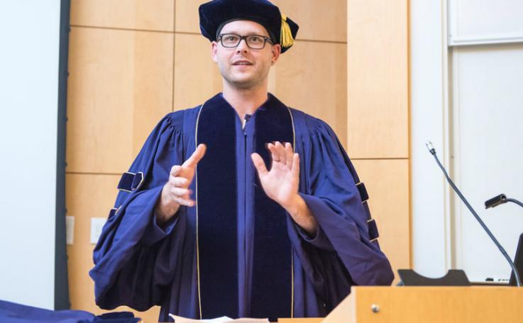 Photo of Jay at graduation